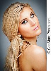 Beauty Portrait. - Beauty shot of blond female model.