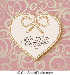 I love you - card illustration