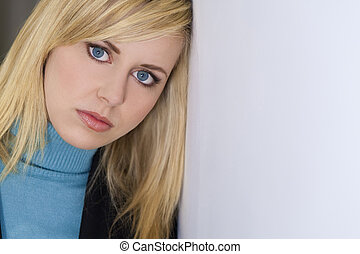 Thoughtfully Beautiful - Studio shot of a beautiful blond...