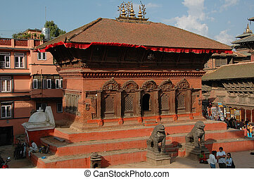 Shiva Parvati Temple, Katmandu - Taken in Burdar Square,...