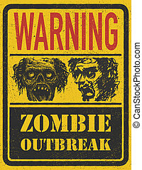 Zombie Outbreak. Hand drawn. Vector Eps8 - Zombie Outbreak....