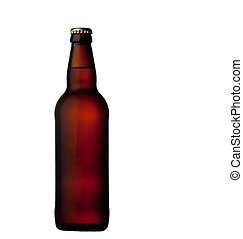 Beer bottle isolated on white - Cold Beer bottle isolated on...