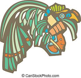 Mayan Warrior Head