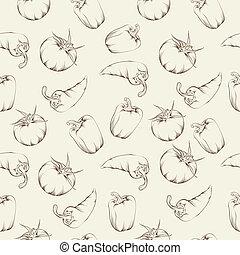 Vegetable pattern - beige.