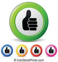 ok hand icons - vector illustration of ok with hand icons on...