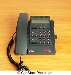 digital(ISDN) telephone    on the color background