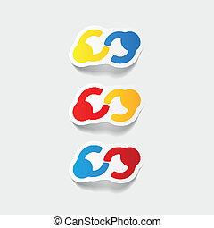 realistic design element: handshake