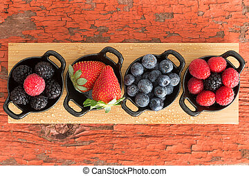 Assortment of ripe fresh autumn berries