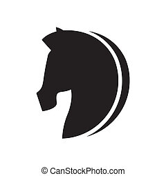 horse design over white background vector illustration