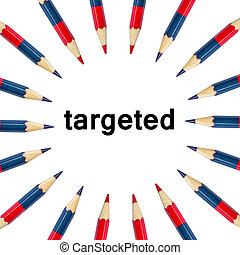 Target Text in Colour pencils
