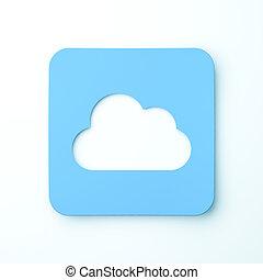Cloud computing concept Flat design 3d rendered illustration...