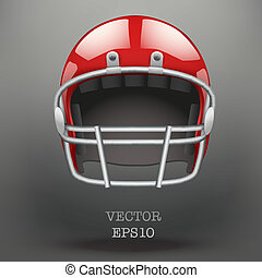 Background of American football helmet vector - Background...