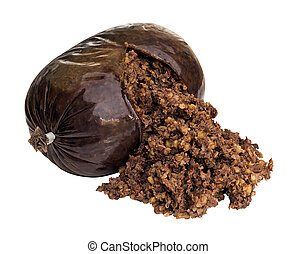 Haggis Isolated on white - Haggis a traditional Scottish...