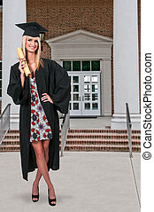 Graduate - Young woman in her graduation robes