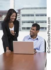 Indian business people having working together. - Indian...