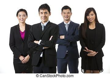 Group of Asian business people - Group of Chinese business...