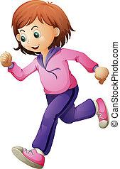A teenager running