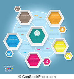 Modern vector infographic template design for your business...