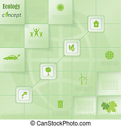 Modern vector ecology concept infographic template design for your presentation