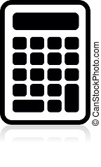 vector calculator icon, vector