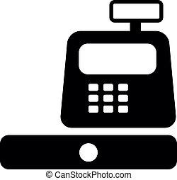 vector of cash register machine, vector