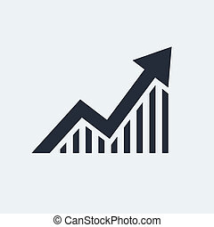 Statistic Flat Icon with shadow. Vector EPS 10.
