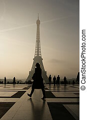 The Eiffel Tower in Paris - The Eiffel tower in Paris in...