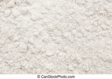 White Wheat Flour Powder Close Up Details