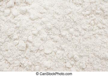 branca, trigo, farinha, pó