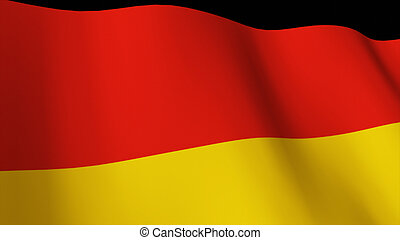 Highly Detailed 3d Render of the German flag