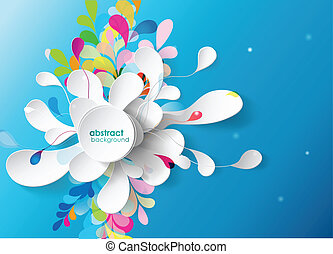Abstract background with paper flower.