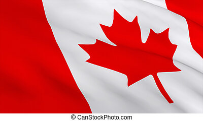 Highly Detailed 3d Render of a Canadian flag 1