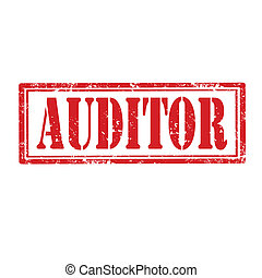 Auditor-stamp - Grunge rubber stamp with word Auditor,vector...