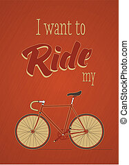 Template with bicycle theme.