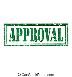 Approval-stamp - Grunge rubber stamp with word...