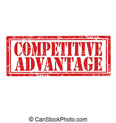 Competitive Advantage-stamp - Grunge rubber stamp with text...