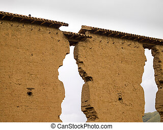 Temple of Wiracocha in Peru - Temple of Wiracocha, an Inca...