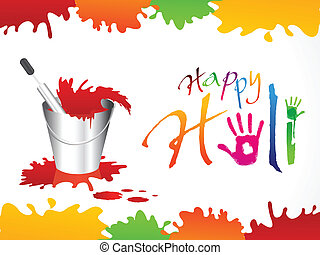 abstract happy holi background vector illustration