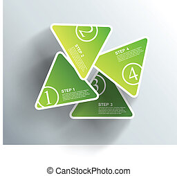 4 cards with numbers and place for your text.
