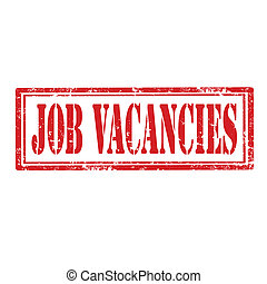 Job Vacancies-stamp - Grunge rubber stamp with text Job...