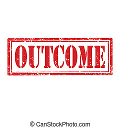 Outcome-stamp - Grunge rubber stamp with text Outcome,vector...