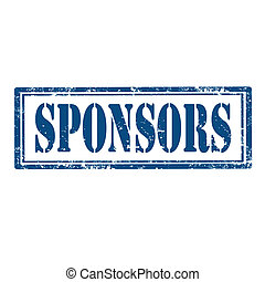 Sponsors-stamp - Grunge rubber stamp with word...