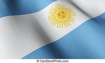 Flag of Agentina - 3d Flag of Agentina