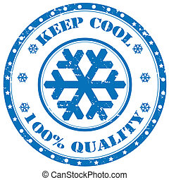 Keep Cool-stamp - Grunge rubber stamp with text Keep...