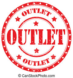 Outlet-stamp - Grunge rubber stamp with word Outlet,vector...