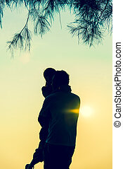 Lovely Couple on sunset scene2