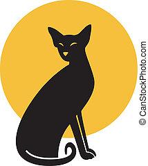 Cat. vector illustration.
