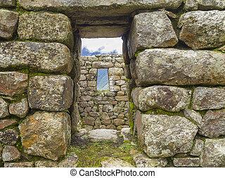 piedra, ventana, machu, Picchu