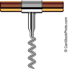 vector chrome corkscrew