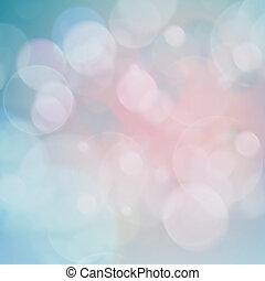 azul, rosa, luces, festivo, Plano de fondo